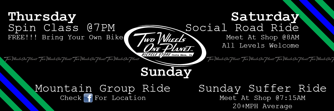 Two Wheels One Planet Shop rides and more